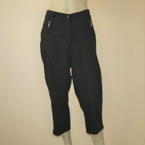 Jamie Sadock Black Capri Golf Pants 10